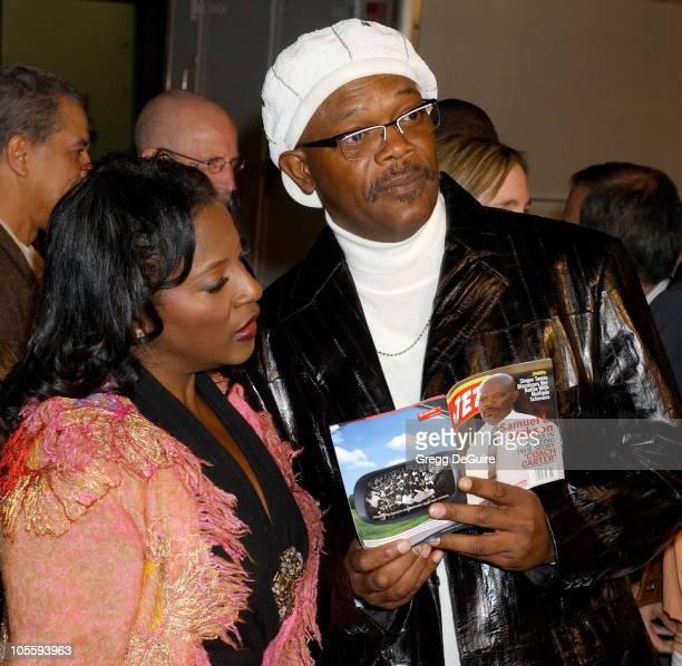Samuel L Jackson and LaTanya Richardson during Coach Carter Los Angeles Premiere Arrivals at Grauman's Chinese Theatre in Hollywood California United...