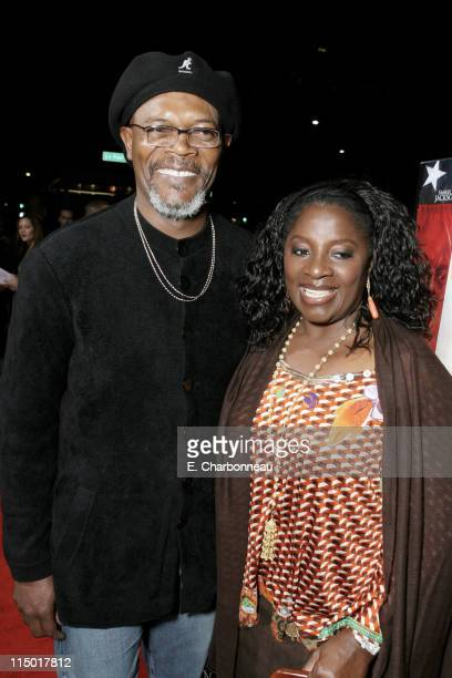 Samuel L Jackson and LaTanya Richardson during MGM's World Premiere of 'Home of the Brave' at Academy of Motion Pictures Arts Sciences in Beverly...