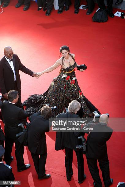 Samuel L Jackson and Monica Bellucci at the premiere of 'MarieAntoinette' during the 59th Cannes Film Festival