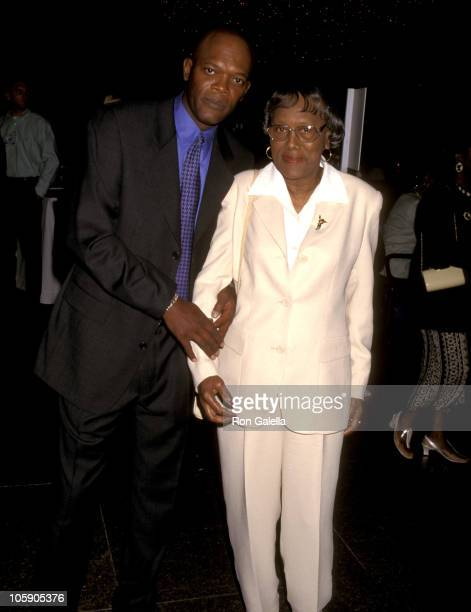 Samuel L Jackson and Mother Elizabeth Jackson during '187' Hollywood Premiere at DGA Theater in Hollywood California United States