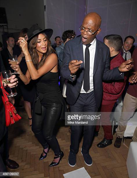 Samuel L Jackson and Nicole Scherzinger attend One For The Boys #SingOne4TheBoys Karaoke Night at Abbey Road Studios on September 25 2014 in London...