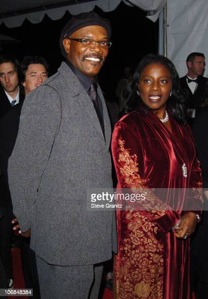 Samuel L Jackson and wife LaTanya Richardson during Palm Springs International Film Festival Awards Gala presented by Tiffany Co Arrivals at Palm...