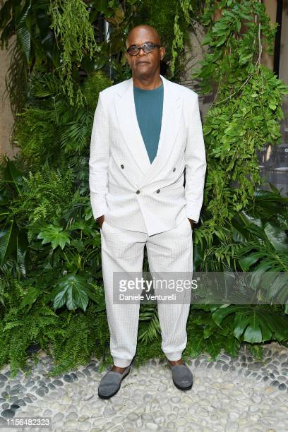 Samuel L. Jackson arrives at the Giorgio Armani fashion show during the Milan Men's Fashion Week Spring/Summer 2020 on June 17, 2019 in Milan, Italy.