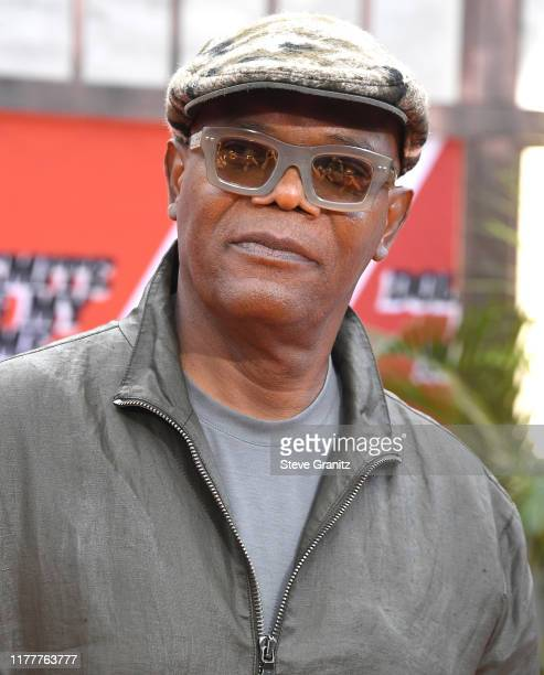 "Samuel L. Jackson arrives at the LA Premiere Of Netflix's ""Dolemite Is My Name"" at Regency Village Theatre on September 28, 2019 in Westwood,..."
