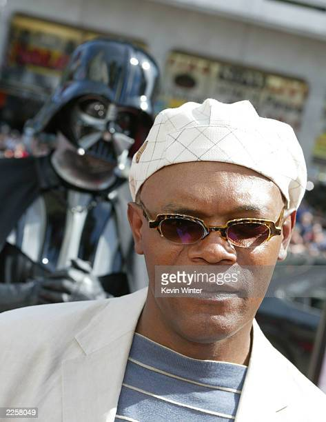 Samuel L Jackson at the premiere of Star Wars Episode II Attack of the Clones at the Chinese Theater in Los Angeles Ca Sunday May 12 2002 Photo by...