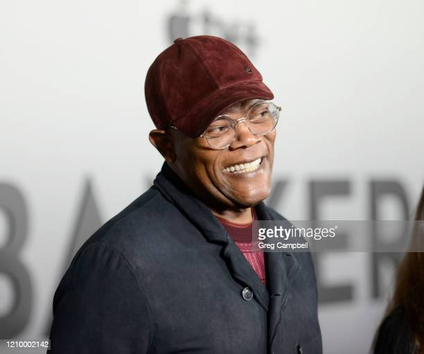"""Samuel L. Jackson at the world premiere of """"The Banker"""" at the National Civil Rights Museum on March 02, 2020 in Memphis, Tennessee. """"The Banker""""..."""