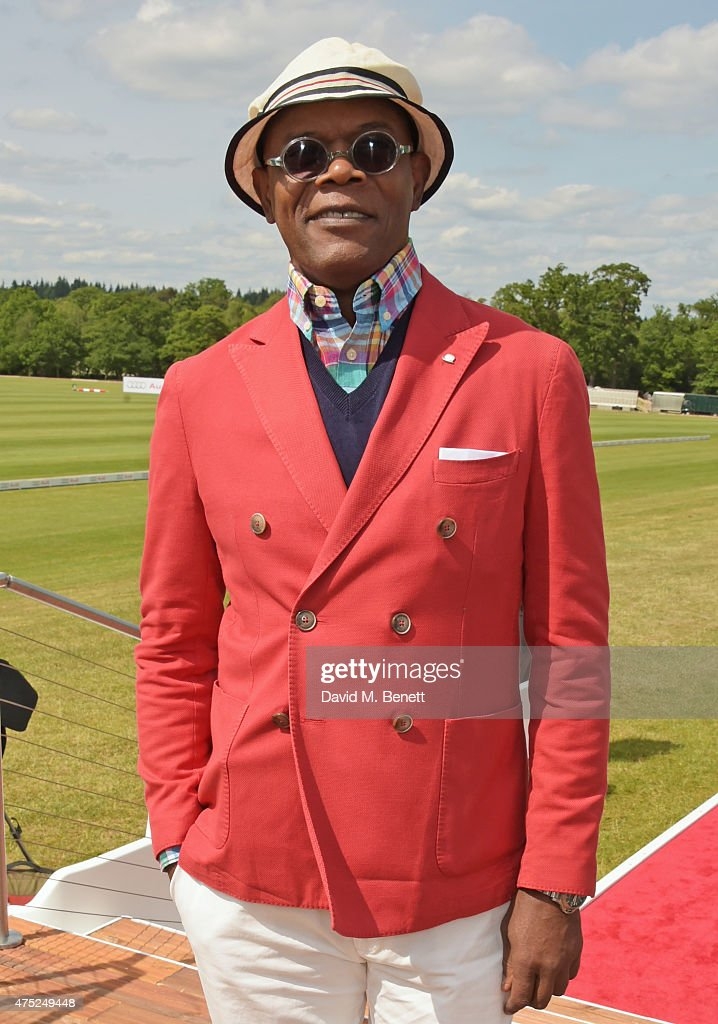 Samuel L. Jackson attends day one of the Audi Polo Challenge at Coworth Park on May 30, 2015 in London, England.