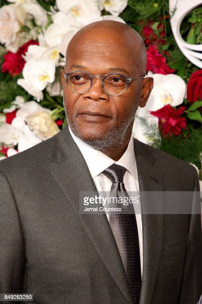 Samuel L Jackson attends the American Theatre Wing Centennial Gala at Cipriani 42nd Street on Septembe