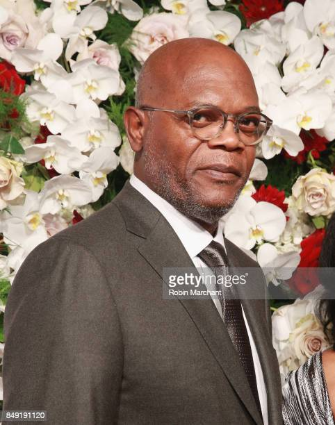 Samuel L Jackson attends The American Theatre Wing's Centennial Gala at Cipriani 42nd Street on September 18 2017 in New York City