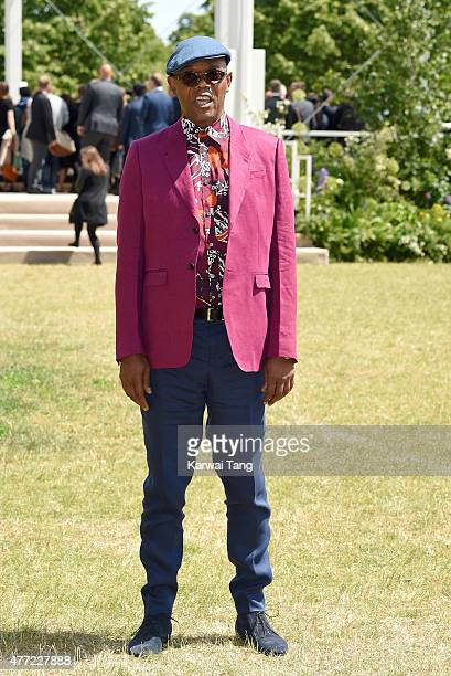 Samuel L Jackson attends the Burberry Prorsum show during The London Collections Men SS16 at on June 15 2015 in London England