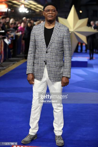Samuel L Jackson attends the Captain Marvel European Gala held at The Curzon Mayfair on February 27 2019 in London England
