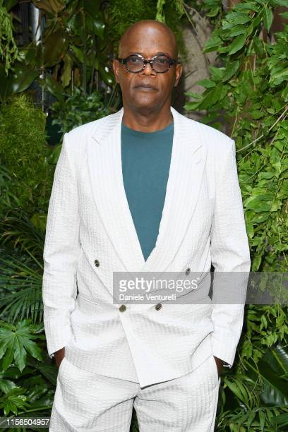 Samuel L. Jackson attends the Giorgio Armani fashion show during the Milan Men's Fashion Week Spring/Summer 2020 on June 17, 2019 in Milan, Italy.