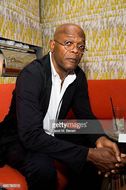 Samuel L Jackson attends the GQ dinner to celebrate London Collections Men SS15 at Ham Yard Hotel on June 17 2014 in London England