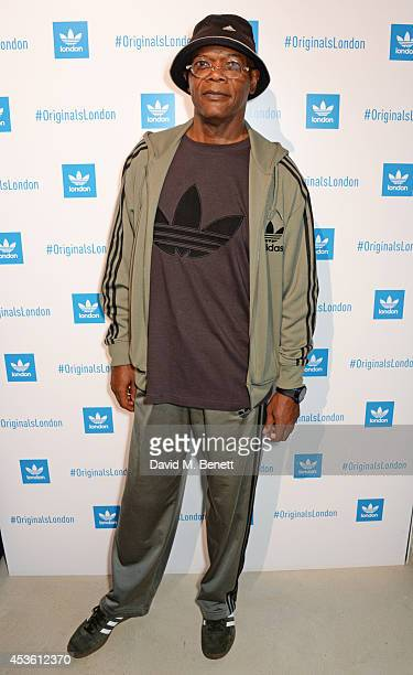 Samuel L Jackson attends the launch of the new adidas Originals London Flagship store at 15 Foubert's Place on August 14 2014 in London England