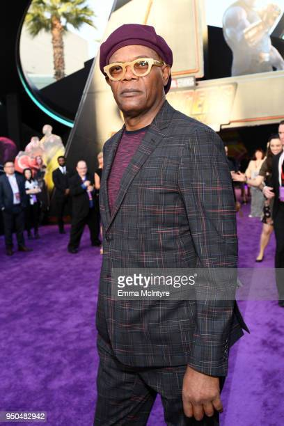 Samuel L Jackson attends the premiere of Disney and Marvel's 'Avengers Infinity War' on April 23 2018 in Los Angeles California
