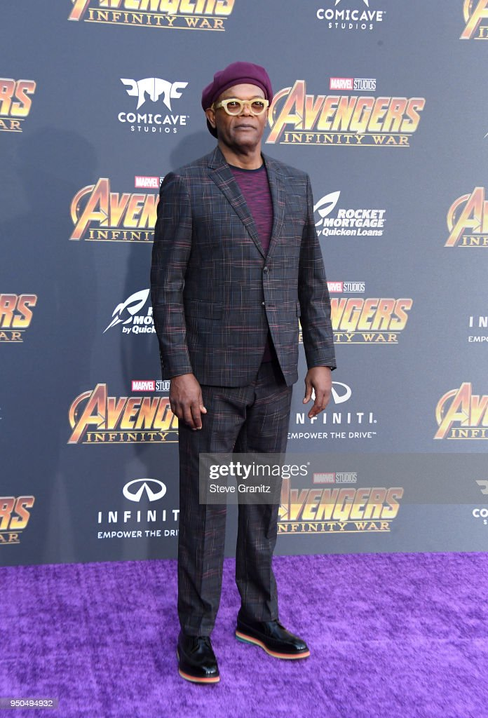 Samuel L. Jackson attends the premiere of Disney and Marvel's 'Avengers: Infinity War' on April 23, 2018 in Los Angeles, California.