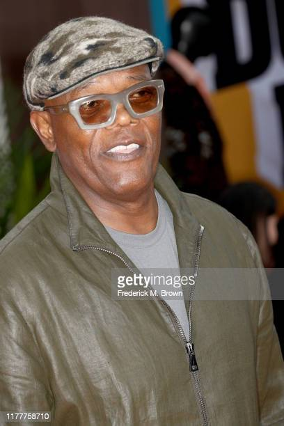 """Samuel L. Jackson attends the LA premiere of Netflix's """"Dolemite Is My Name"""" at Regency Village Theatre on September 28, 2019 in Westwood, California."""