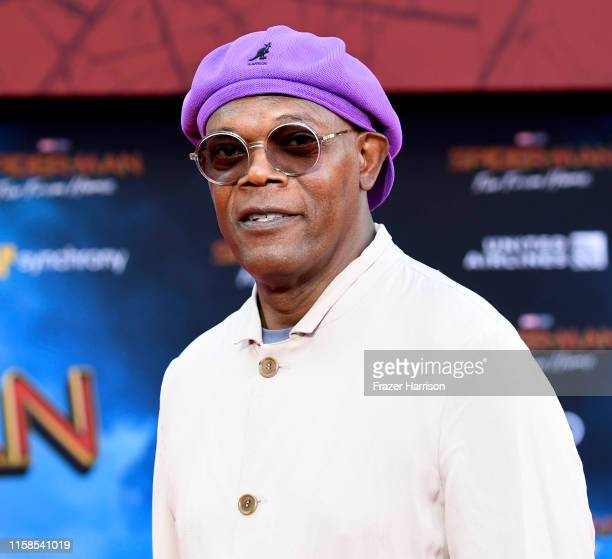 """Samuel L. Jackson attends the Premiere Of Sony Pictures' """"Spider-Man Far From Home"""" at TCL Chinese Theatre on June 26, 2019 in Hollywood, California."""