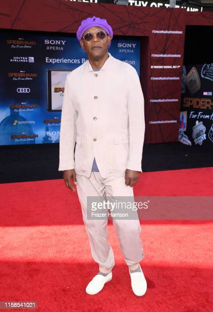 Samuel L Jackson attends the Premiere Of Sony Pictures' SpiderMan Far From Home at TCL Chinese Theatre on June 26 2019 in Hollywood California