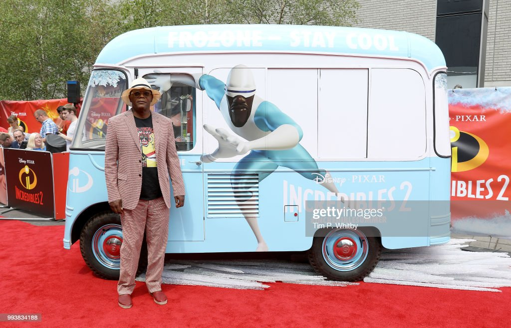 Samuel L Jackson attends the UK Premiere of Disney-Pixar's 'Incredibles 2' at BFI Southbank on July 8, 2018 in London, England.