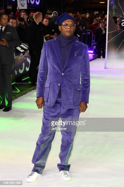 Samuel L Jackson attends the UK Premiere of Glass at The Curzon Mayfair on January 09 2019 in London England