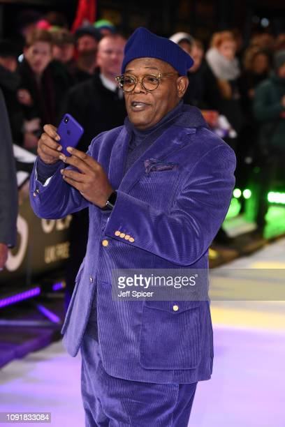 """Samuel L. Jackson attends the UK Premiere of """"Glass"""" at The Curzon Mayfair on January 09, 2019 in London, England."""