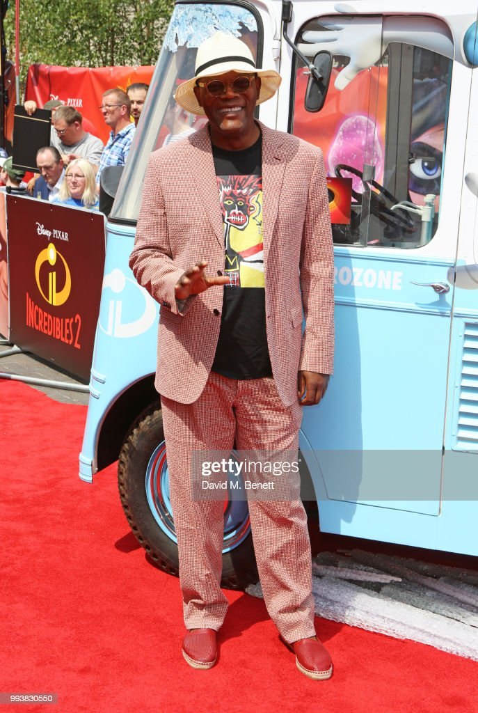 Samuel L. Jackson attends the UK Premiere of 'Incredibles 2' at THE BFI Southbank on July 8, 2018 in London, England.
