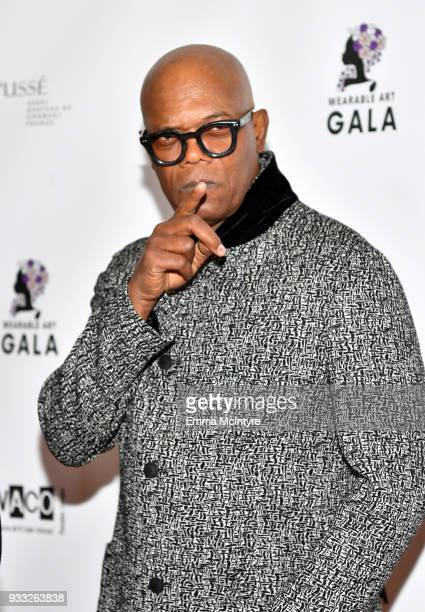 Samuel L Jackson attends WACO Theater's 2nd Annual Wearable Art Gala on March 17 2018 in Los Angeles California