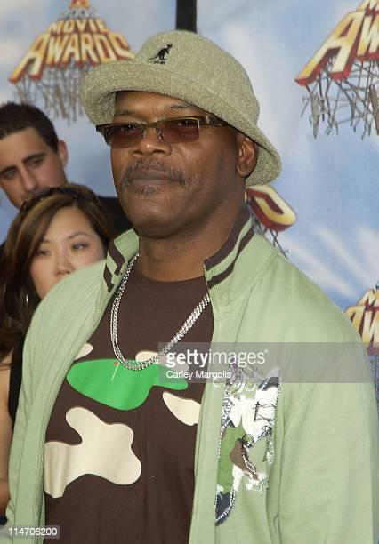 Samuel L. Jackson during 2005 MTV Movie Awards - Arrivals at Shrine Auditorium in Los Angeles, California, United States.