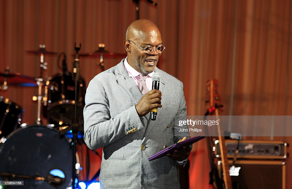 Samuel L Jackson during the Affinity Real Estate Shooting Stars Benefit closing Ball at The Grove Hotel on June 15, 2013 in Hertford, England.