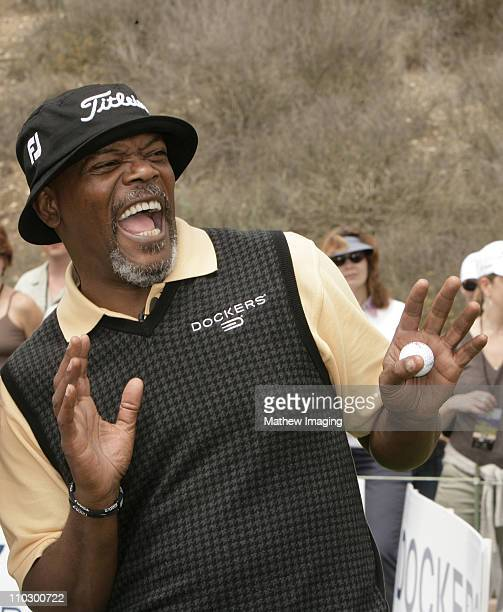 Samuel L. Jackson during The Ninth Annual Michael Douglas and Friends Celebrity Golf Tournament at Trump National Golf Club in Rancho Palos Verdes,...