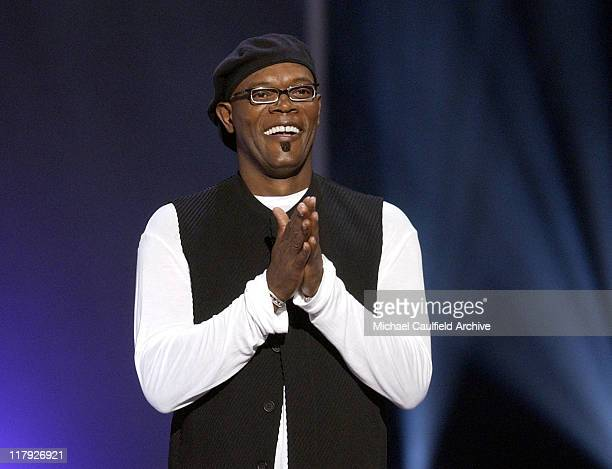 Samuel L Jackson host of the 2002 ESPY Awards during 2002 ESPY Awards Show at The Kodak Theater in Hollywood California United States