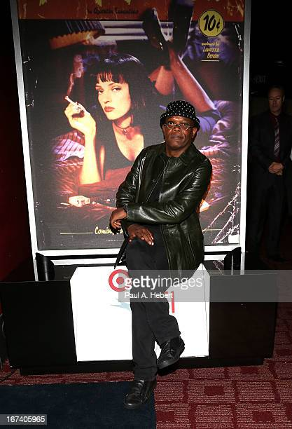 Samuel L Jackson presenting 'Pulp Fiction' at Target Presents AFI's Night at the Movies at ArcLight Cinemas on April 24 2013 in Hollywood California