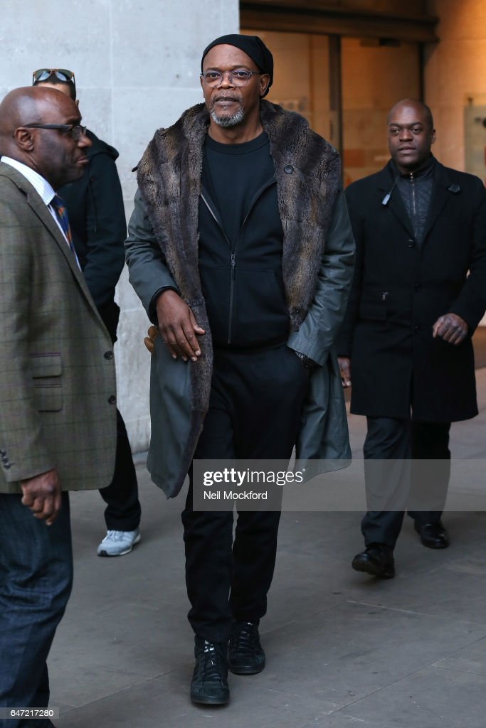 Samuel L. Jackson seen at BBC 1xtra studios on March 2, 2017 in London, England.