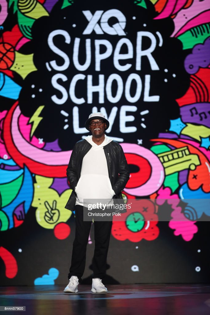 Samuel L. Jackson speaks onstage during the XQ Super School Live, presented by EIF, at Barker Hangar on September 8, 2017 in Santa California.
