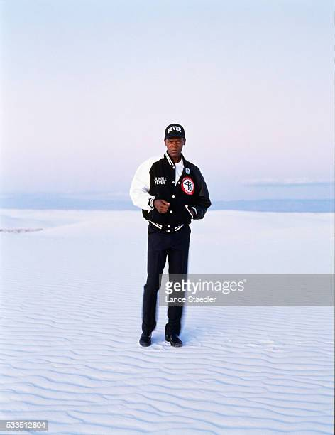 Samuel L Jackson Standing on Snow