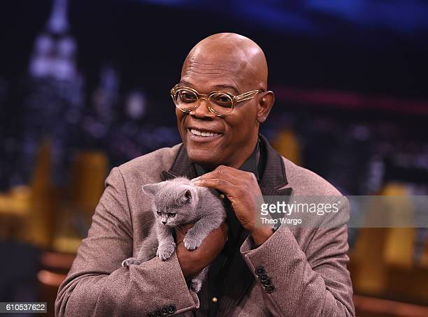 Samuel L Jackson Visits 'The Tonight Show Starring Jimmy Fallon at Rockefeller Center on September 26 2016 in New York City