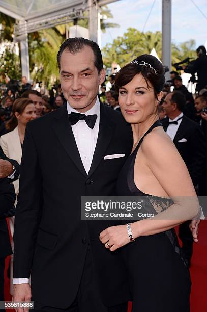 Samuel Labarthe and Helene Medigue at the premiere for Lawless during the 65th Cannes International Film Festival