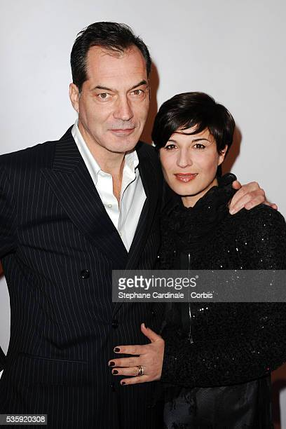 Samuel Labarthe and Helene Medigue attend Madame Figaro 30th Anniversary Party at Salle Wagram in Paris