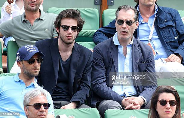 Samuel Labarthe and his son Alexandre Labarthe attend day 1 of the French Open 2015 held at Roland Garros stadium on May 24 2015 in Paris France