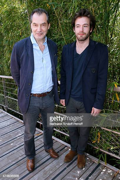 Samuel labarthe and his son Alexandre Labarthe attend the 2015 Roland Garros French Tennis Open at Roland Garros on May 24 2015 in Paris France