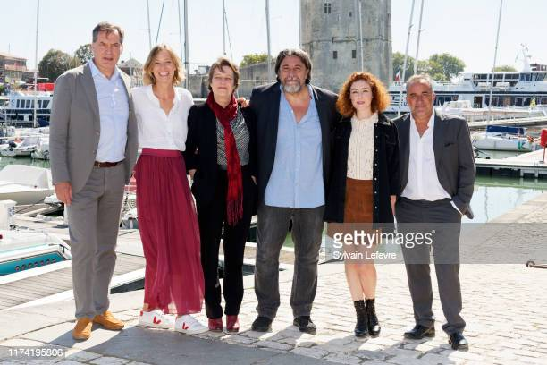 Samuel Labarthe, Elodie Frenck, Marie Berto, Dominique Thomas, Blandine Bellavoir and Antoine Duléry attend the 21th Festival of TV Fiction At La...