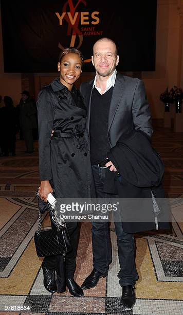 Samuel Le Bihan and Daniela Le Bihan attend the Yves SaintLaurent Exhibition Launch at Le Petit Palais on March 10 2010 in Paris France