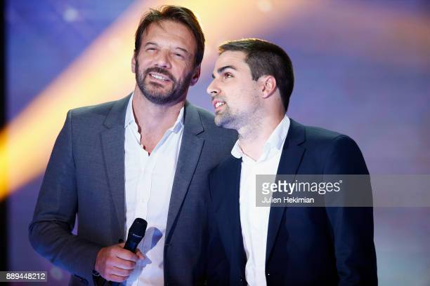 Samuel Le Bihan and David attend the 31st France Television Telethon at Pavillon Baltard on December 9 2017 in NogentsurMarne France