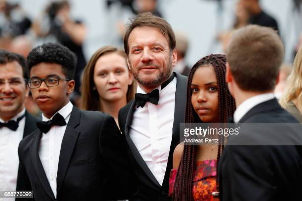 Samuel Le Bihan and guests attend the 'Amant Double ' screening during the 70th annual Cannes Film Festival at Palais des Festivals on May 26 2017 in...