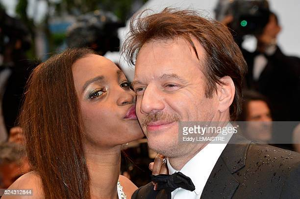 Samuel Le Bihan and his wife Daniela arrive at the Amour Premiere during the 65th Cannes Film Festival.
