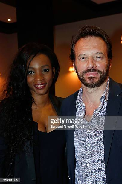 Samuel le Bihan and his wife Daniela Beye attend the dinner for the reopening of the Hotel Royal of the group Barriere of La Baule on April 11 2015...