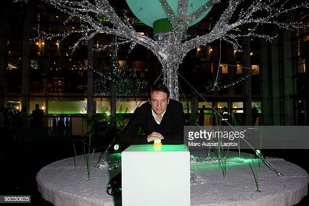 Samuel Le Bihan turns on the Christmas illuminations titled 'Imaginary Garden of Christmas' at Forum des Halles on November 19 2009 in Paris France
