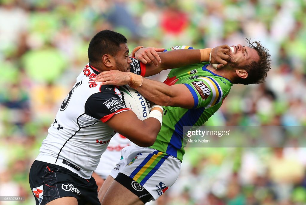 NRL Rd 3 - Raiders v Warriors