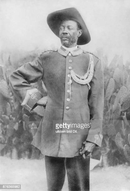 Samuel Maharero chief of the Herero people and leader of the Herero uprising 1905 against the German rule in the colony German SouthwestAfrica...
